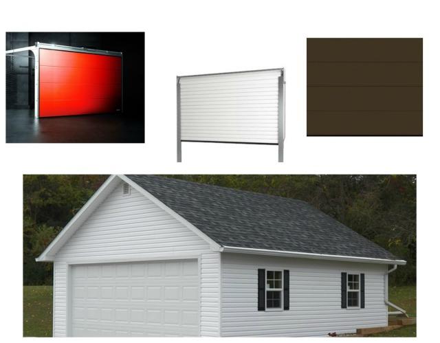 Bramy garażowe i budynek garażu