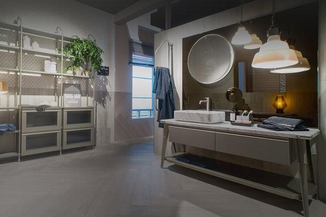 Stylowa łazienka z włoskimi kafelkami